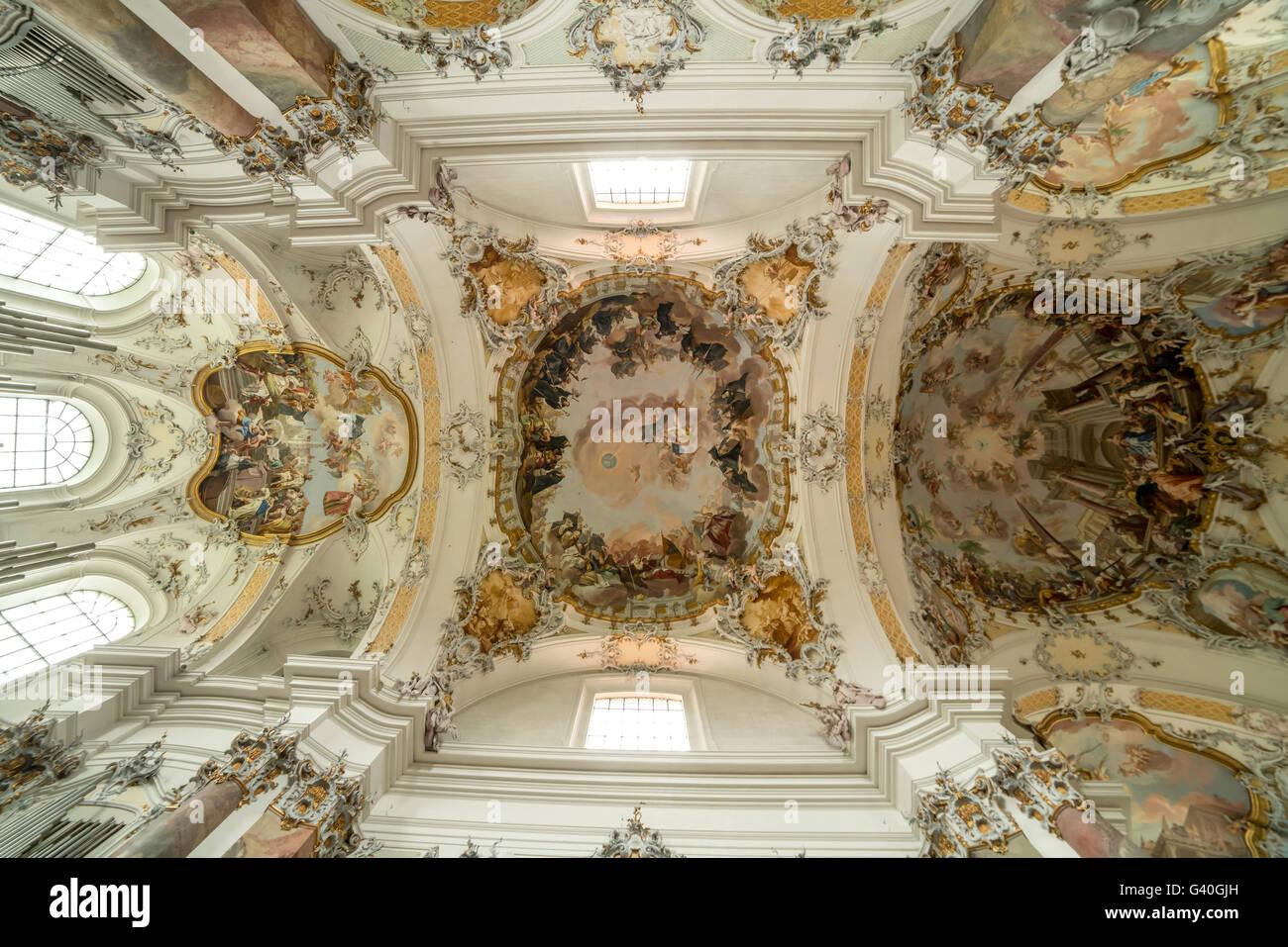 Ottobeuren abbey stock photos ottobeuren abbey stock images alamy baroque fresco on the ceiling of the basilica ottobeuren abbey allgu bavaria dailygadgetfo Image collections