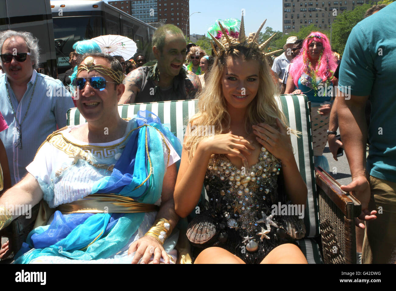 At the fitbit ipo celebration at new york stock exchange on thursday - New York New York Usa 18th June 2016 The 34th Annual Mermaid Parade Held In Coney Island Queen Mermaid Is Hailey Clauson