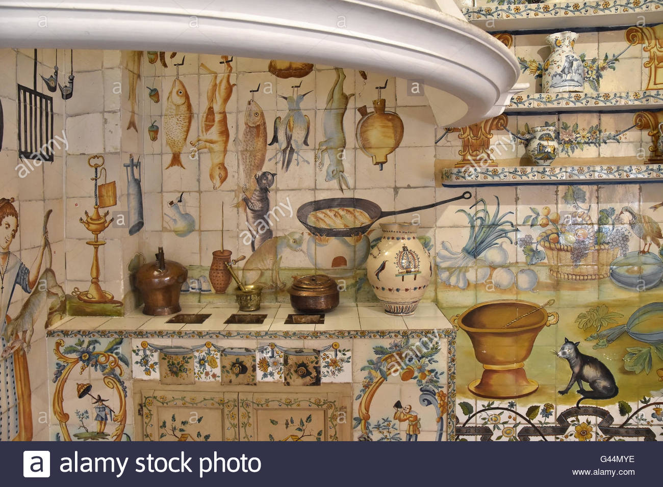 18th century valencian kitchen cocina valenciana ornate for Cocina valenciana