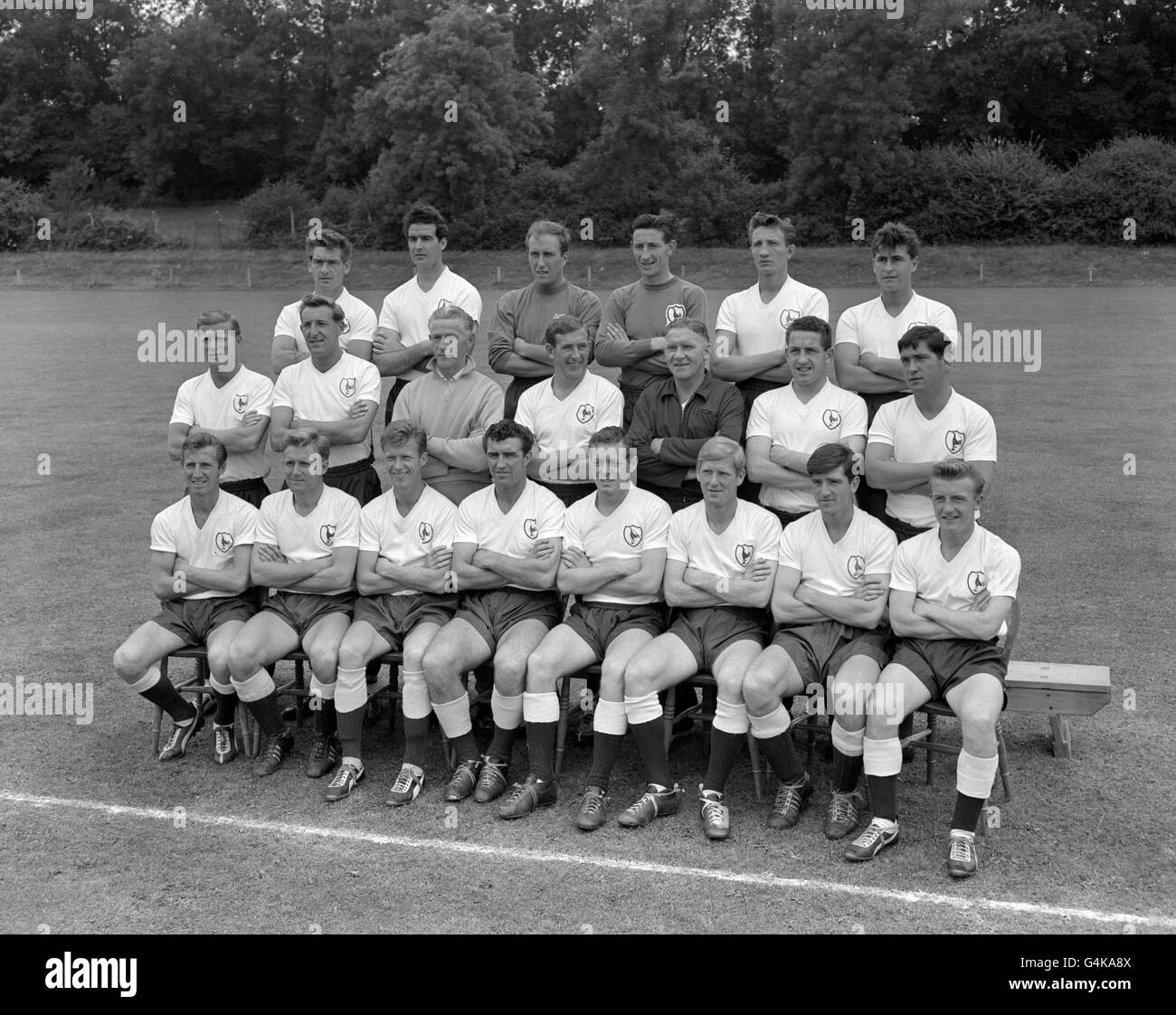 Soccer Tottenham Hotspur Team Group 1961 62 Season Stock
