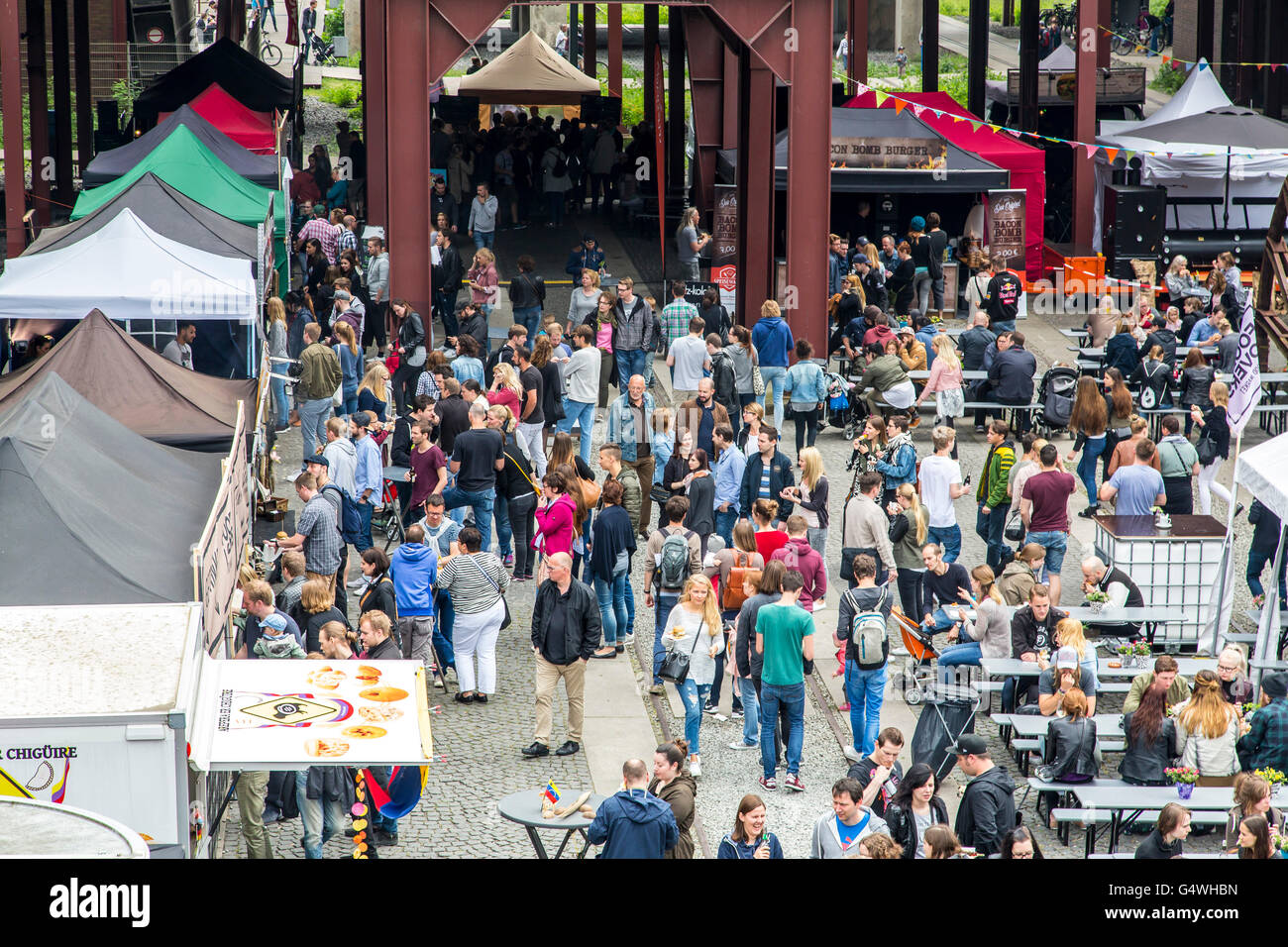 food festival food truck festival at zeche zollverein essen stock photo royalty free image. Black Bedroom Furniture Sets. Home Design Ideas