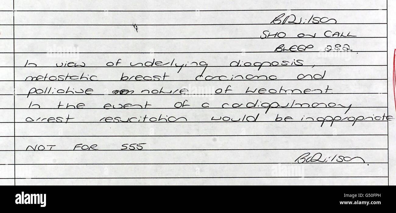 Jill Baker Medical Note