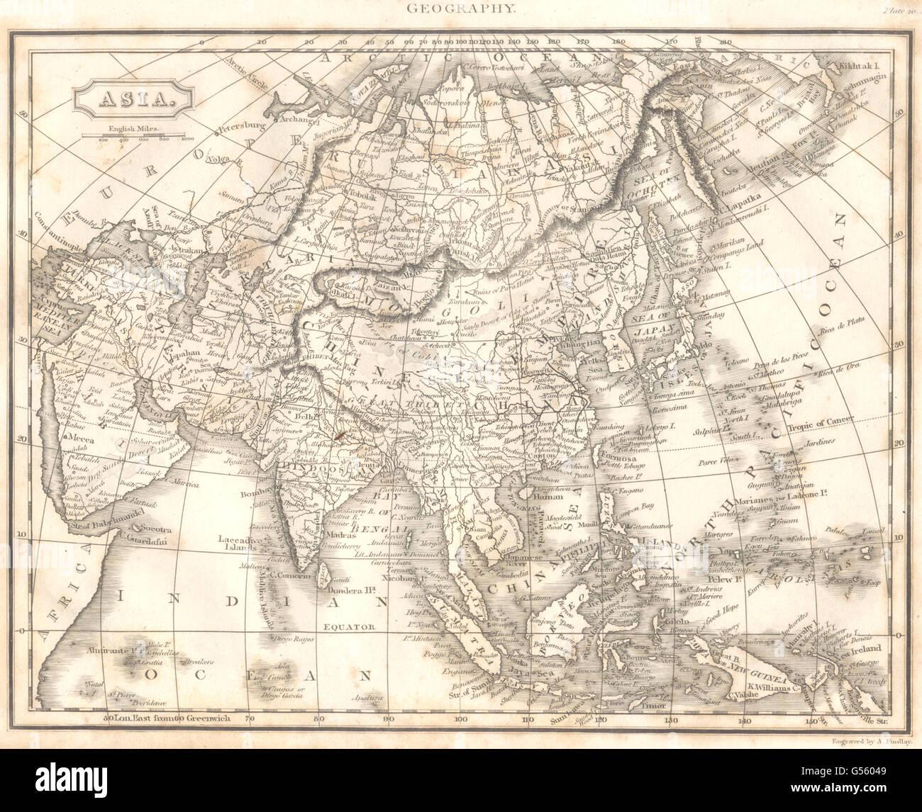 ASIAArabia PersiaIranHindoostan China Malaya Japan Stock Photo - Japan map equator