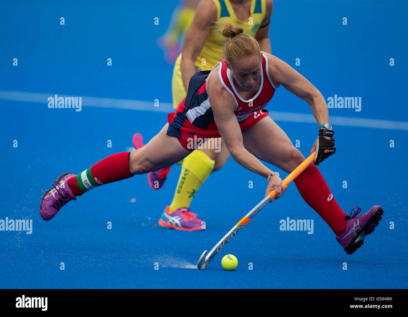 Investec Womens Hockey Champions Trophy 2016 Queen Elizabeth Olympic Park June Lauren Crandall USA Action