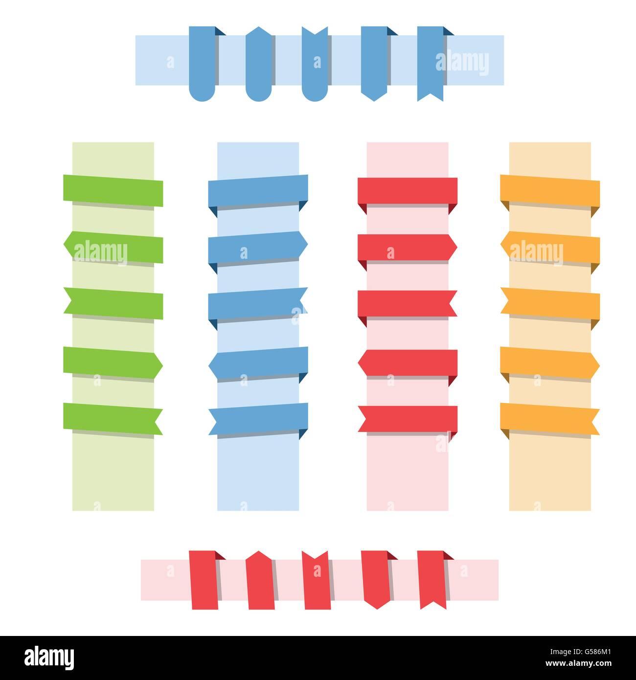 Design elements banner - Stock Vector Web Design Elements Color Ribbon Banner Set Vector