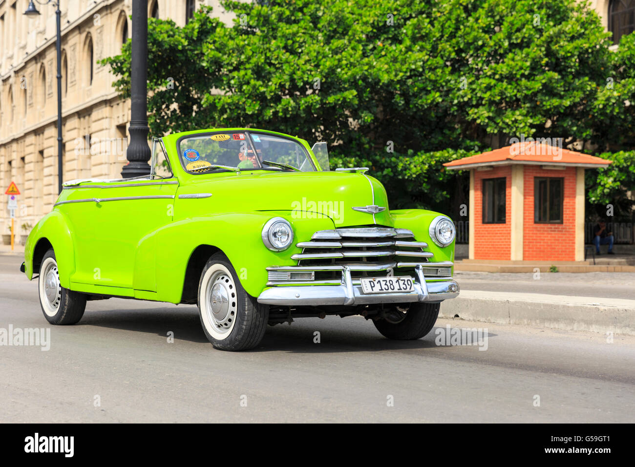 1940s lime green american chevrolet fleetmaster convertible classic stock photo royalty free. Black Bedroom Furniture Sets. Home Design Ideas