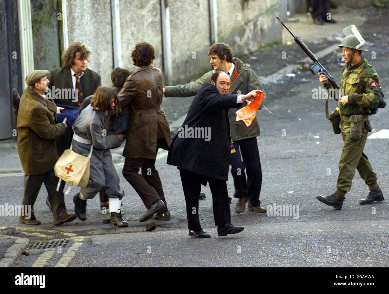 bloody sunday film stock photo royalty free image