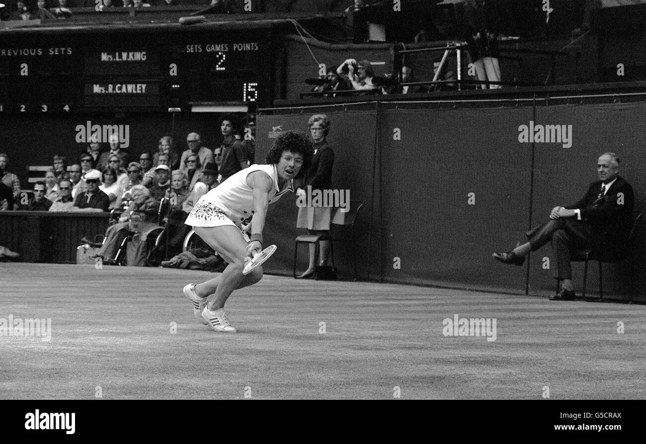Tennis Wimbledon Women s Singles Final Billie Jean King v