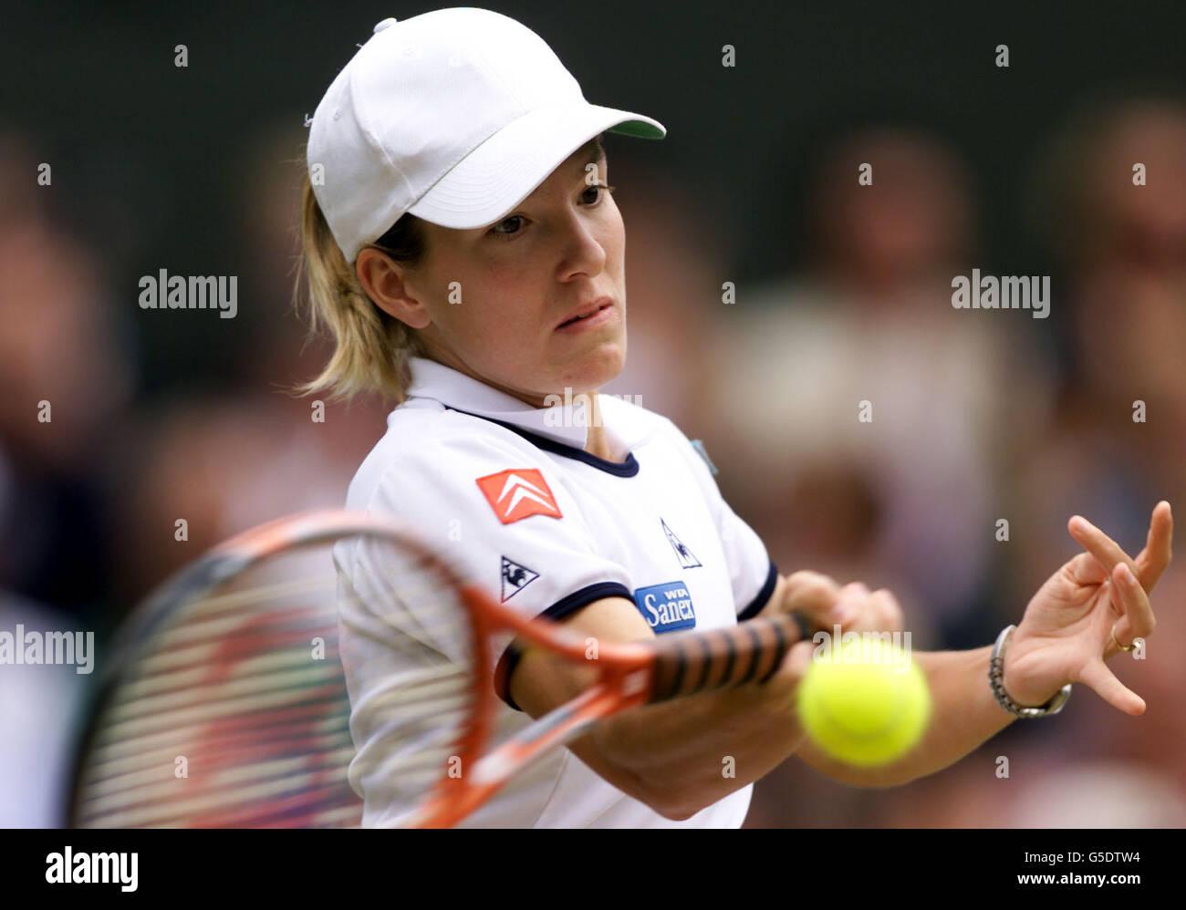 Justine Henin Wimbledon Stock Royalty Free Image