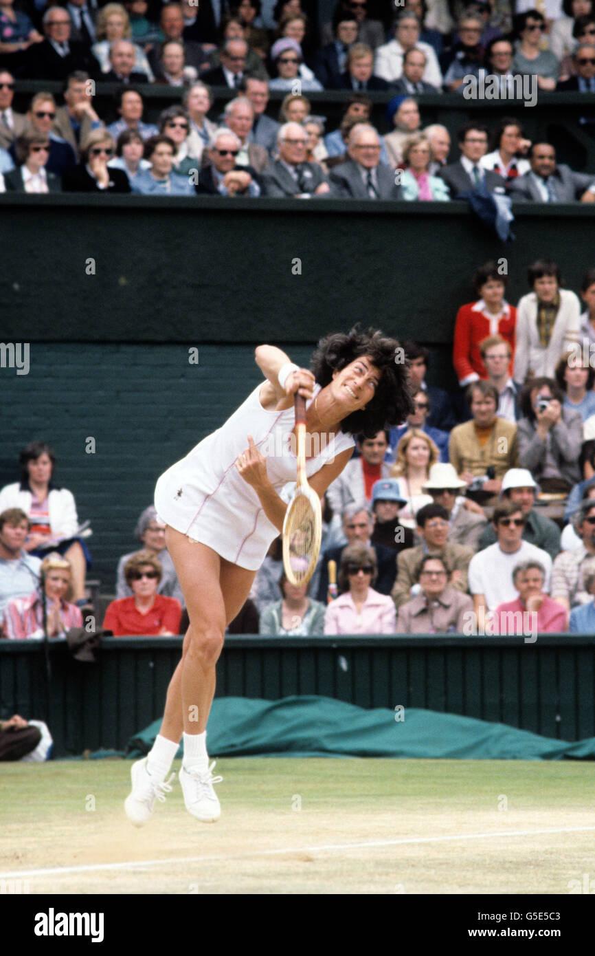 Tennis Wimbledon Championships 1977 La s Singles Final Stock