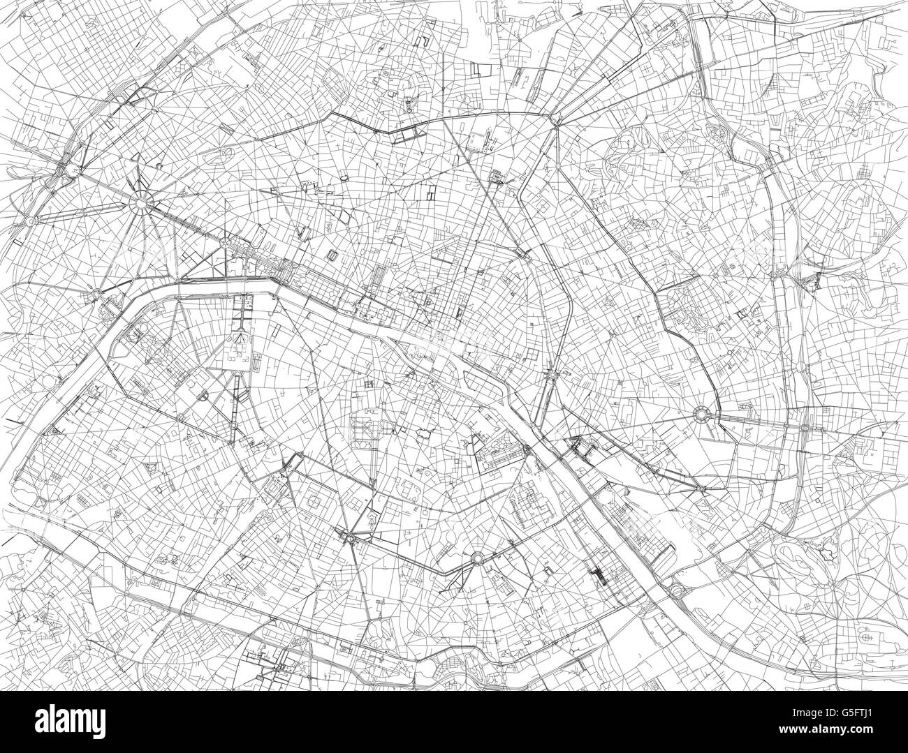 Map Of Paris Satellite View Streets And Highways France – Map of Paris France Streets
