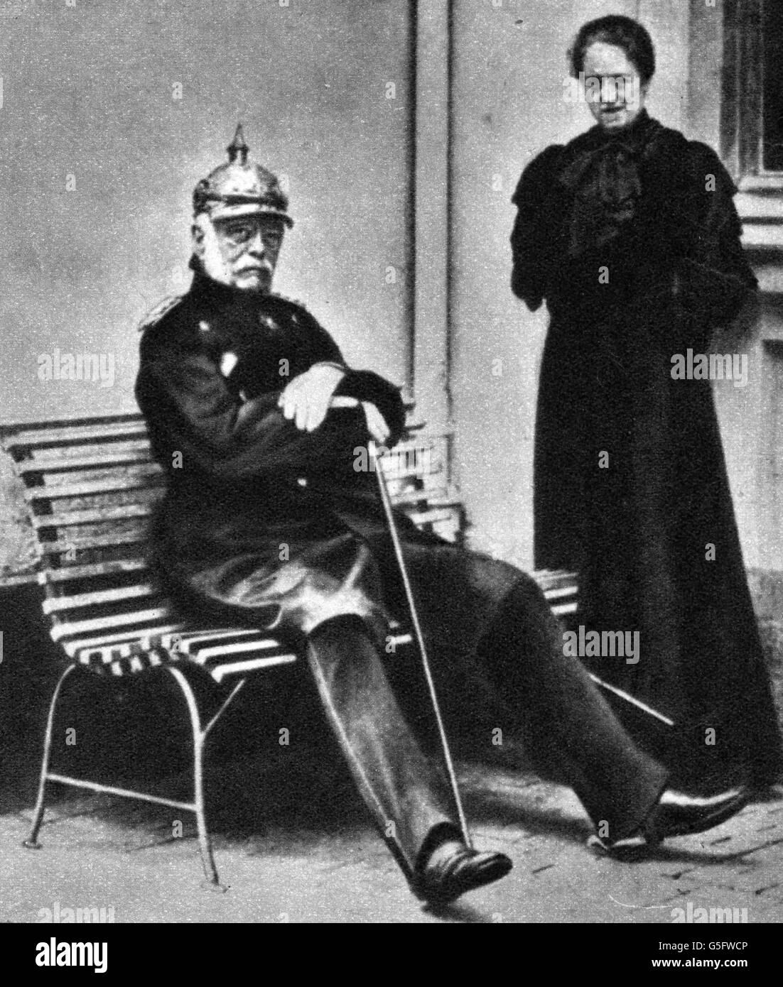 Otto von Bismarck with his daughter in law Marguerite von
