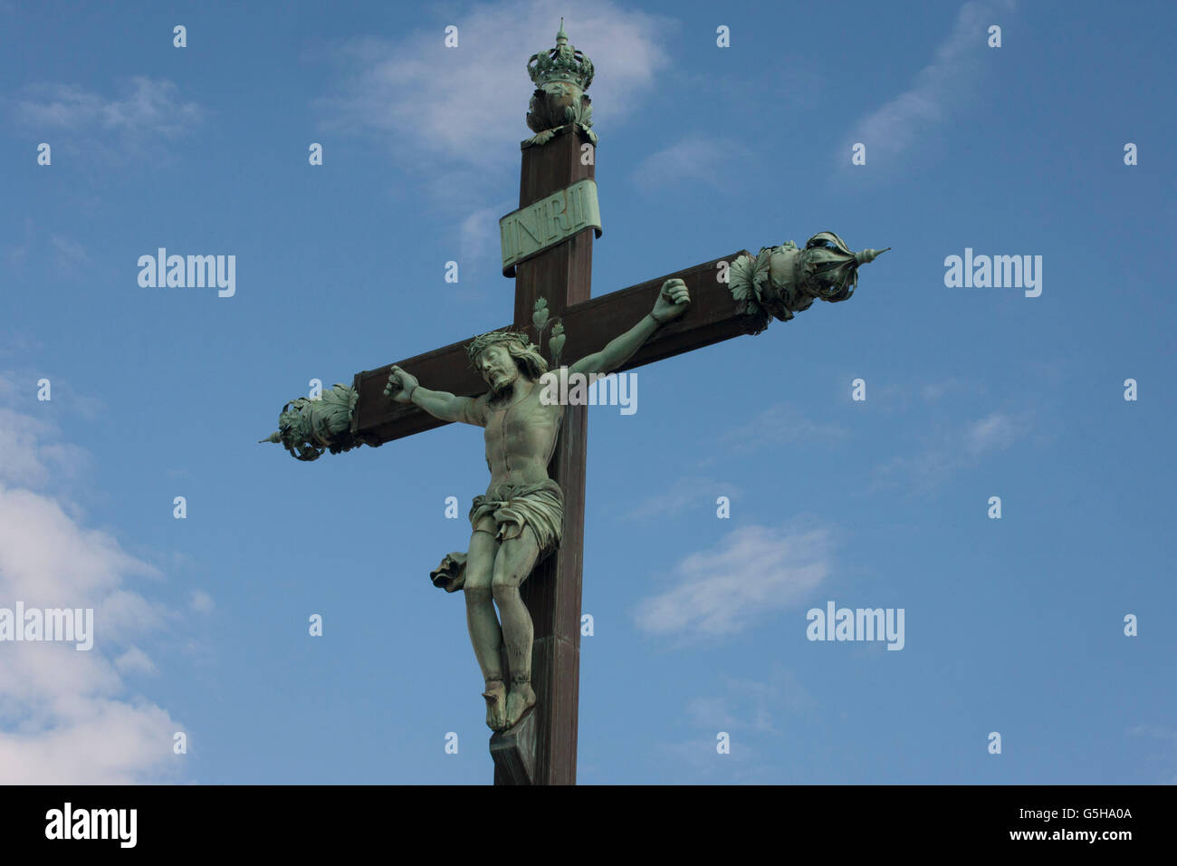 a crucified christ on the cross in montpellier south of france