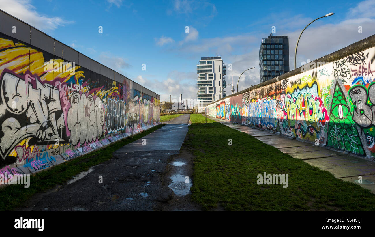 Sections Of The Berlin Wall, Now Covered In Street Art At The East Side  Gallery In Berlin, Germany Part 80