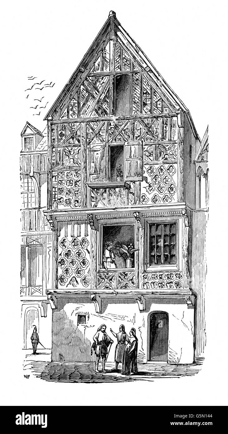 An Old Wattle And Daub Tudor Style House In London Circa