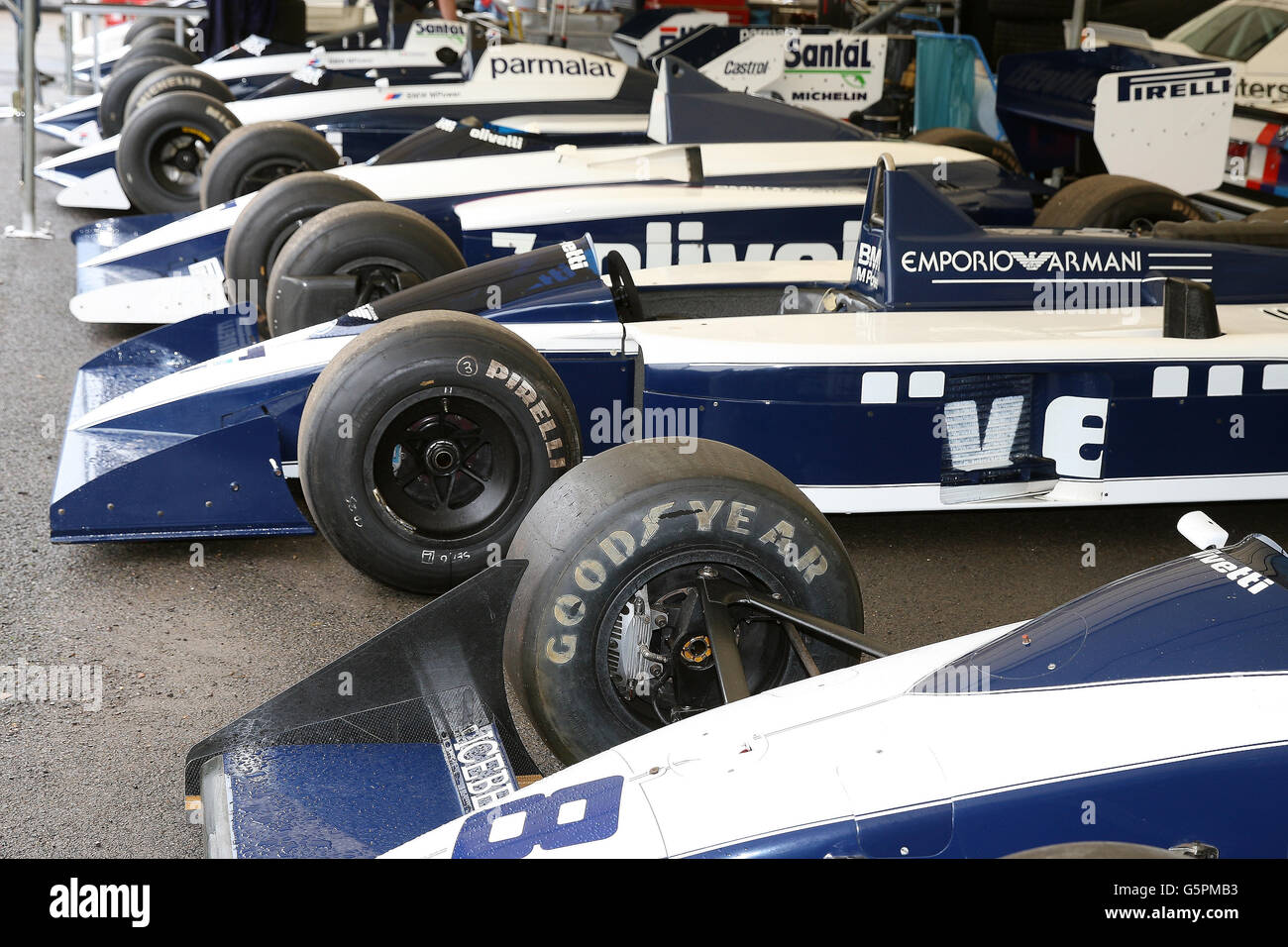 Goodwood West Sussex Uk June Brabham Cars At The