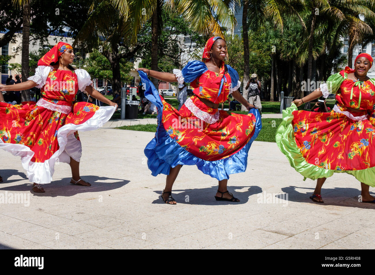 Florida Miami Beach Haitian woman dancers costume outfit ...