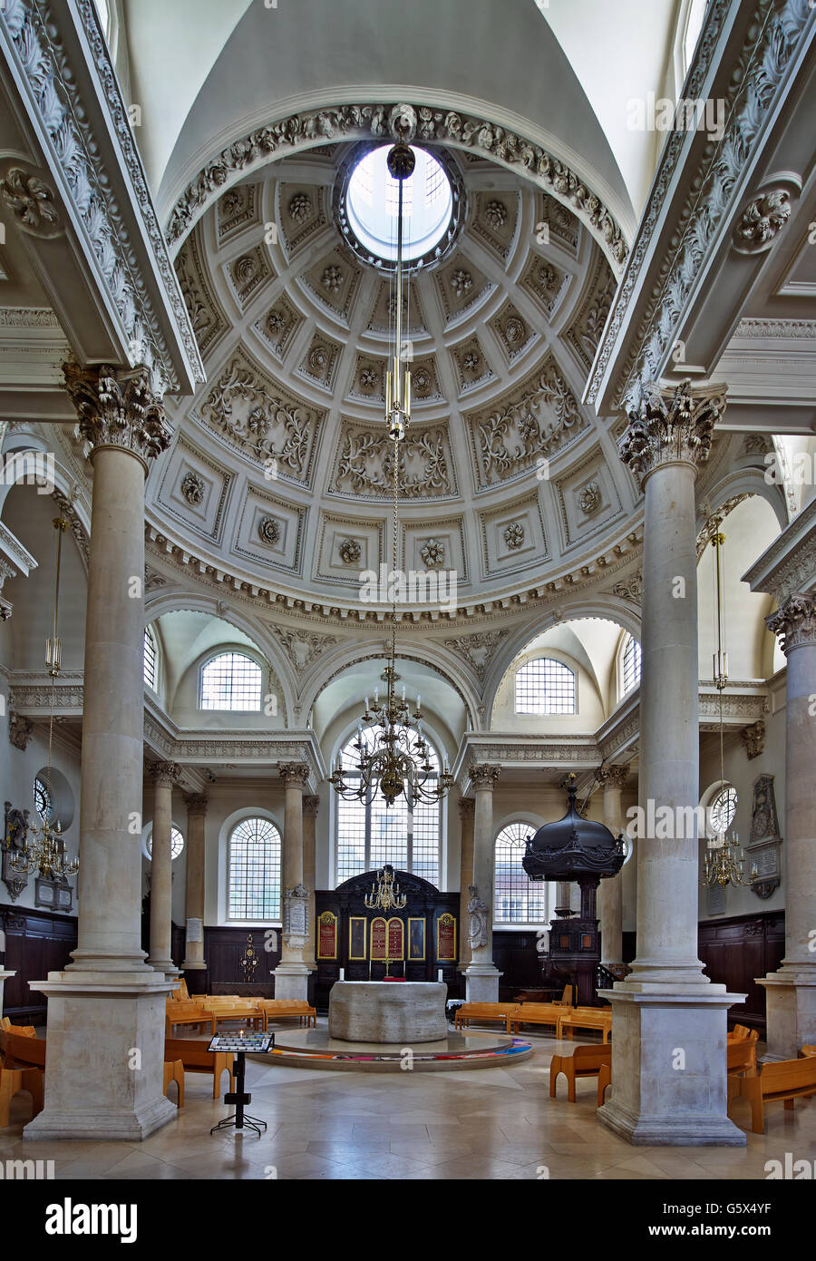 St Stephen Walbrook, Church In The City Of London; Nave And Dome