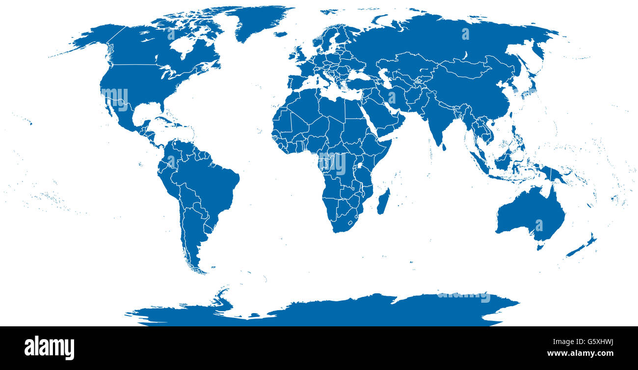 World Political Map Outline Detailed Map Of The World With Stock - Political map outline
