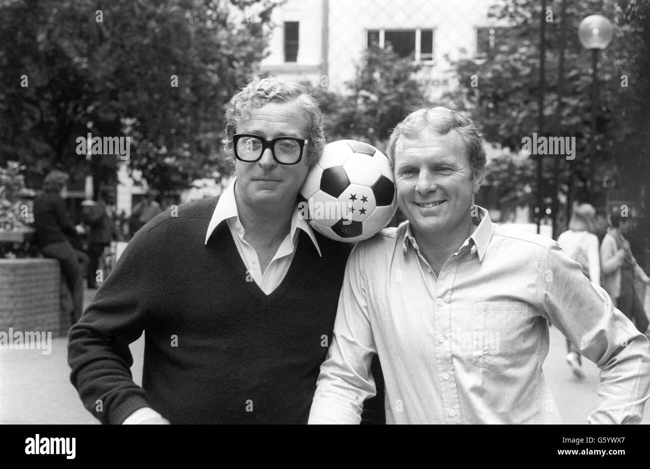 Michael Caine and Bobby Moore Escape to Victory premiere