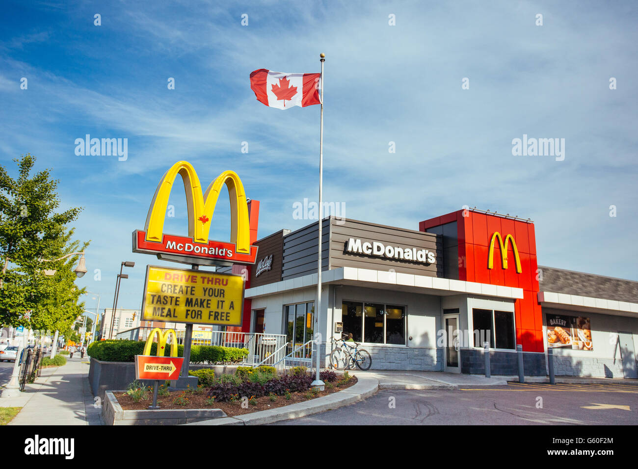 mcdonalds canada fast food restaurant exterior stock photo