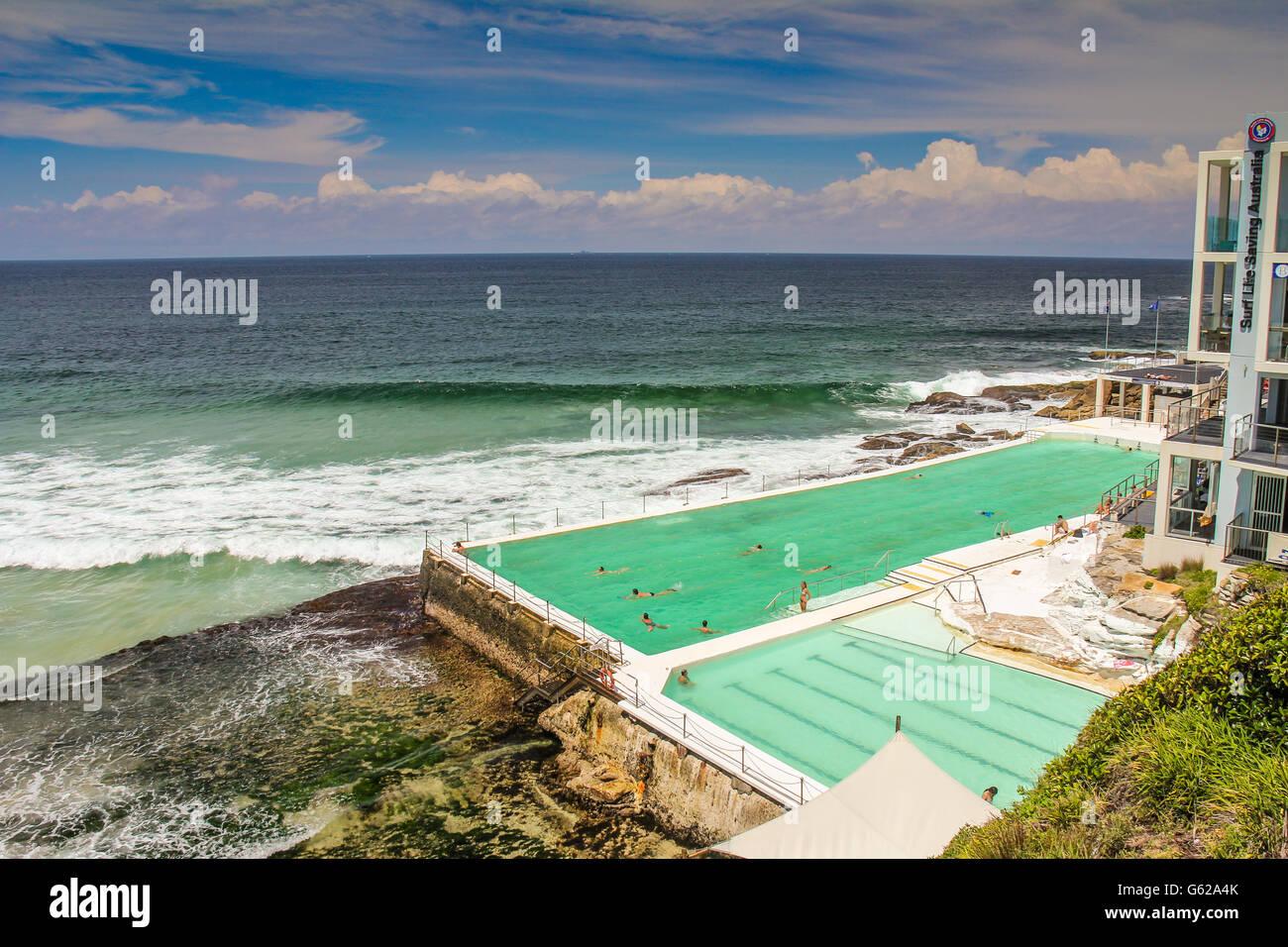 Swimming Pool In Bondi Beach Sydney Australia Stock Photo Royalty Free Image 107002019 Alamy