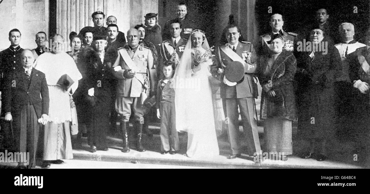 Image result for february 6, 1937 mussolini wedding
