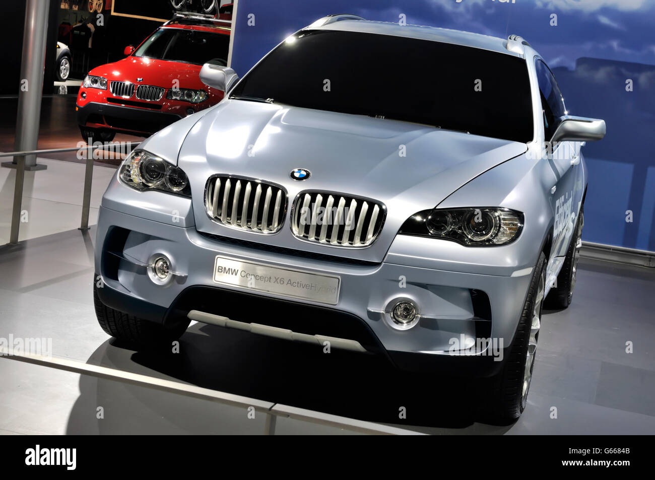 bmw x6 concept suv active hybrid at toronto auto show canadian stock photo royalty free image. Black Bedroom Furniture Sets. Home Design Ideas