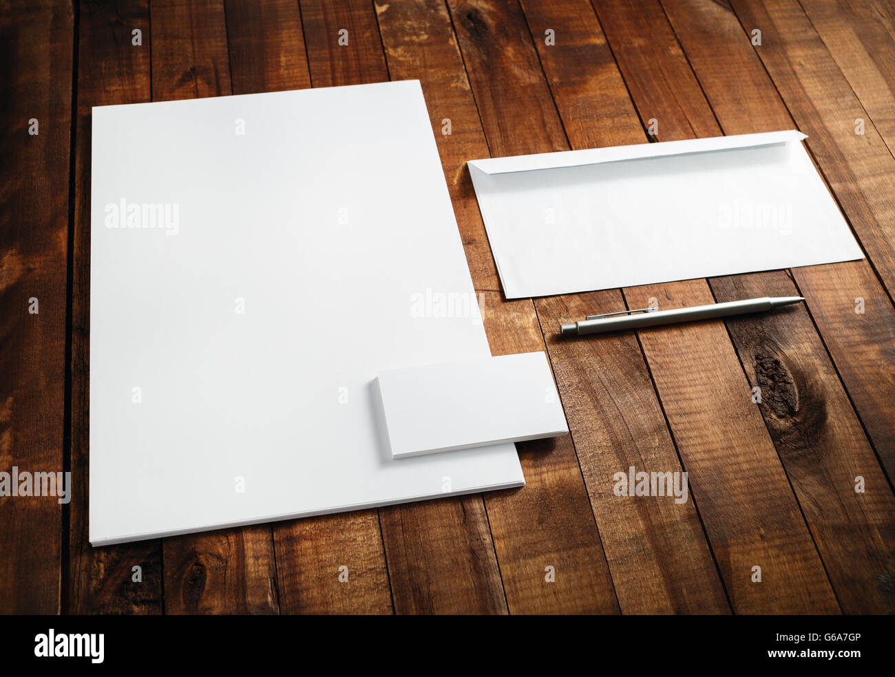 Photo of blank stationery set. Blank template for branding ...