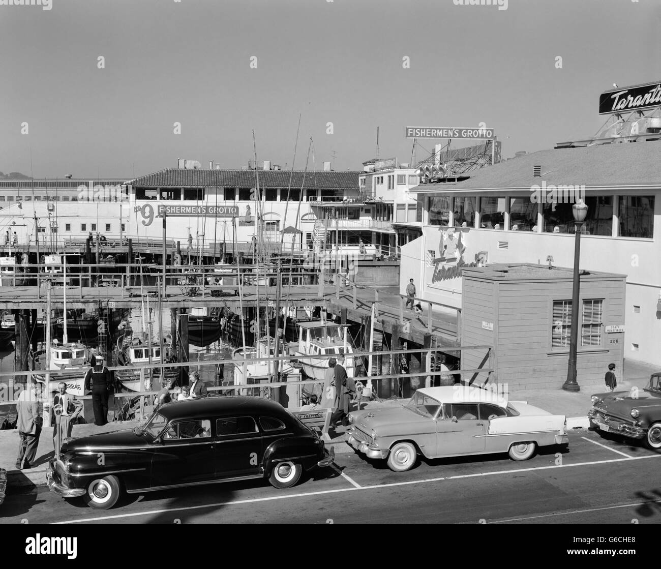1950s 1960s Fisherman S Wharf San Francisco Ca Usa Stock