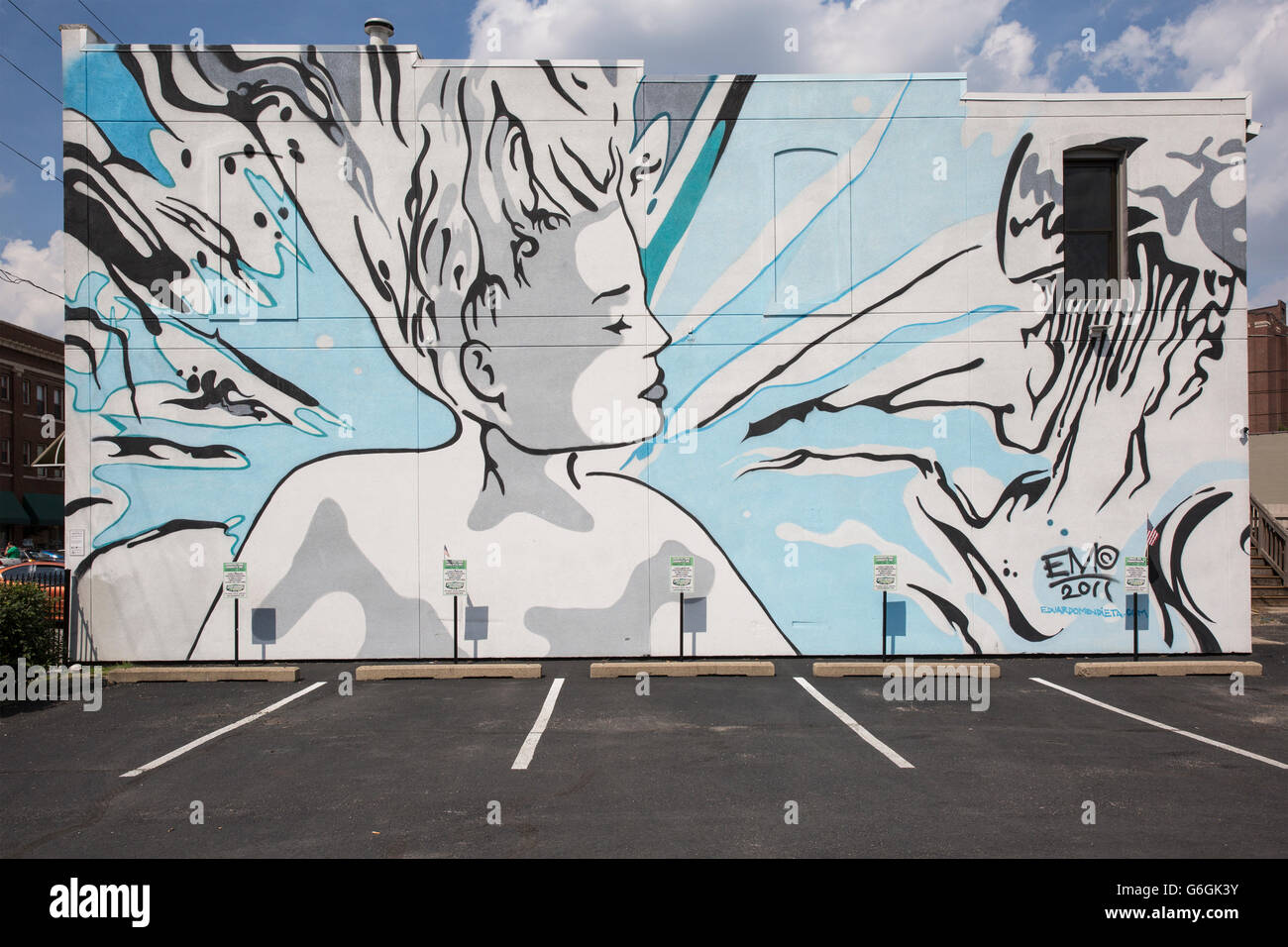 mural building stock photos mural building stock images alamy public wall mural depicting a woman indianapolis indiana stock image