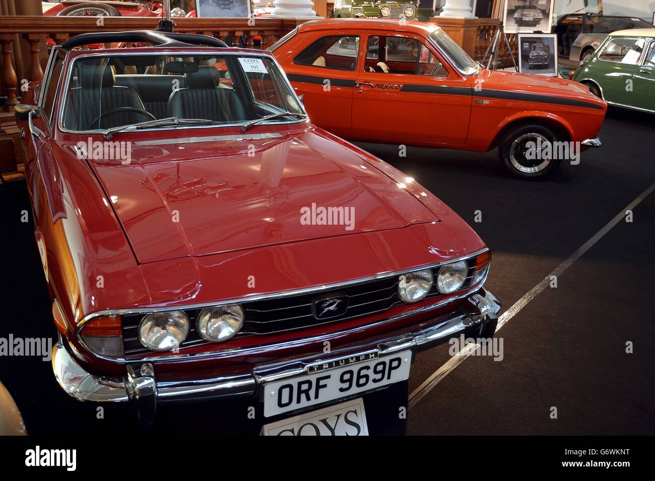 Vintage cars auction Stock Photo, Royalty Free Image: 107514452 ...