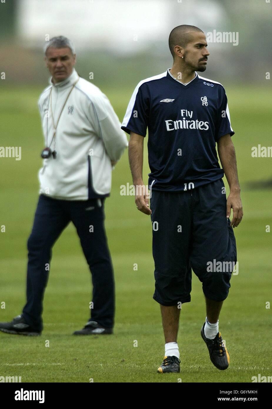 Juan Sebastian Veron Chelsea Training Stock Royalty Free