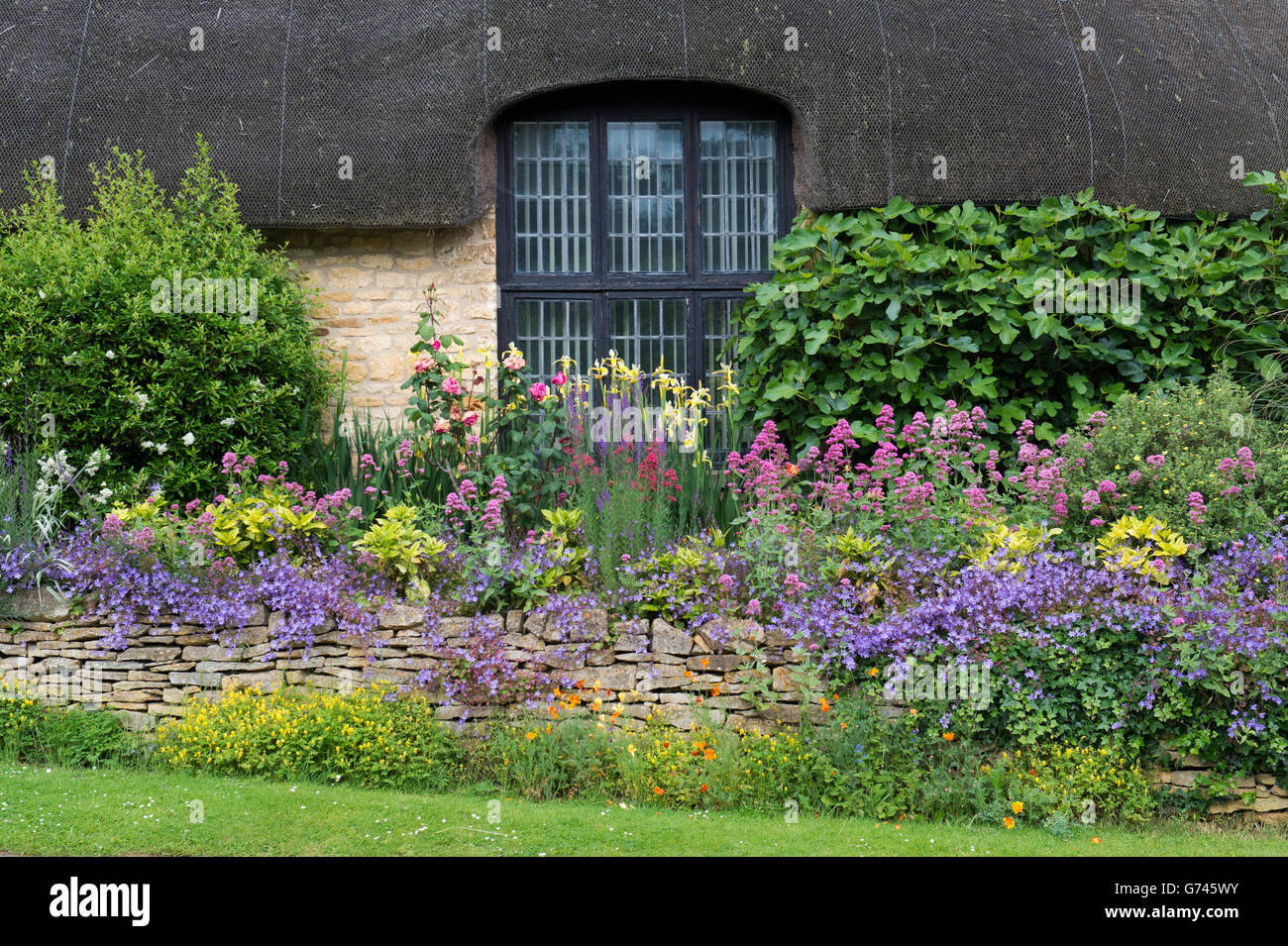 Cotswold Stone Thatched Cottage And Garden Chipping