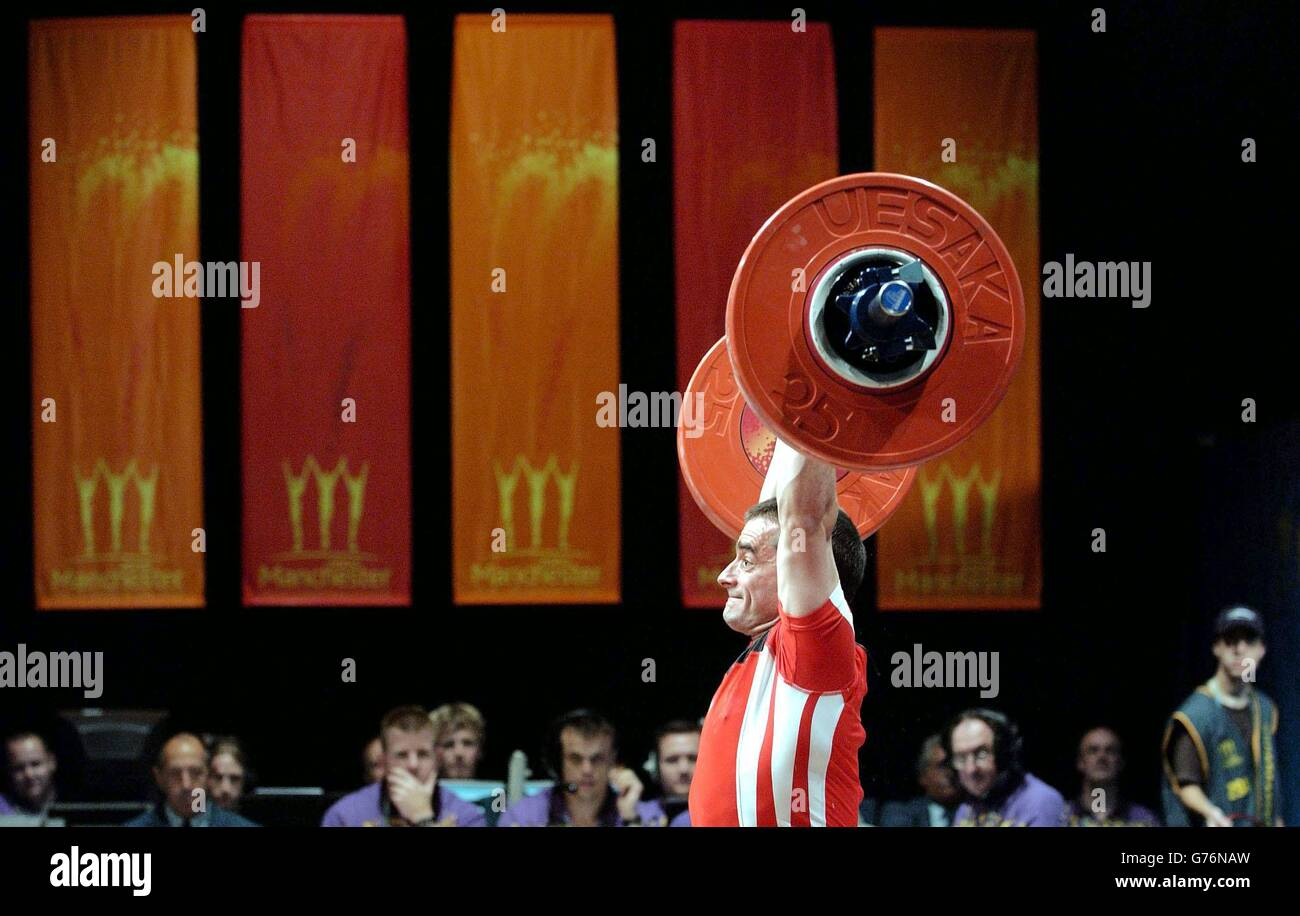 Ray Williams Snatch Weightifting monwealth Games Stock