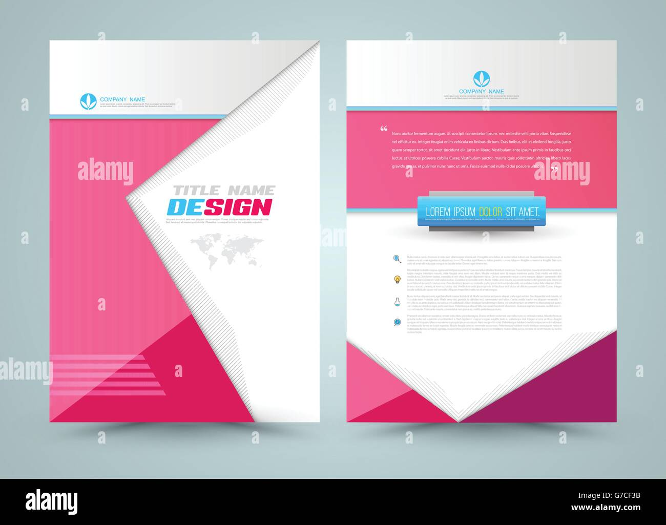 Cover template design for business annual report flyer brochure – Business Annual Report Template