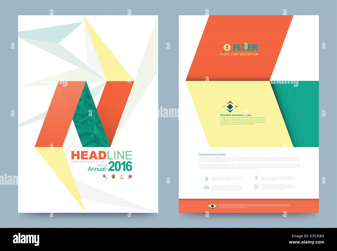 Cover Template Design For Business Annual Report Flyer Brochure Leaflet  Presentation And Printing Press. Vector Illustration. La  Annual Report Template Design