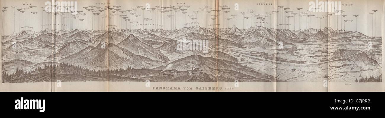 PANORAMA VOM GAISBERG Salzburg Salzach valley Austria sterreich