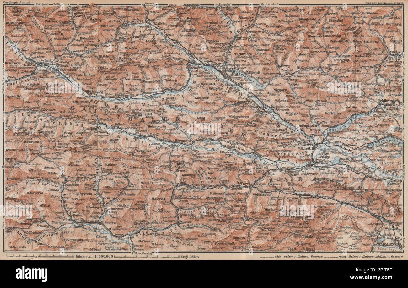 CARINTHIAN ALPS Lienz Villach Triglav Lake Bled Austria Italy Stock