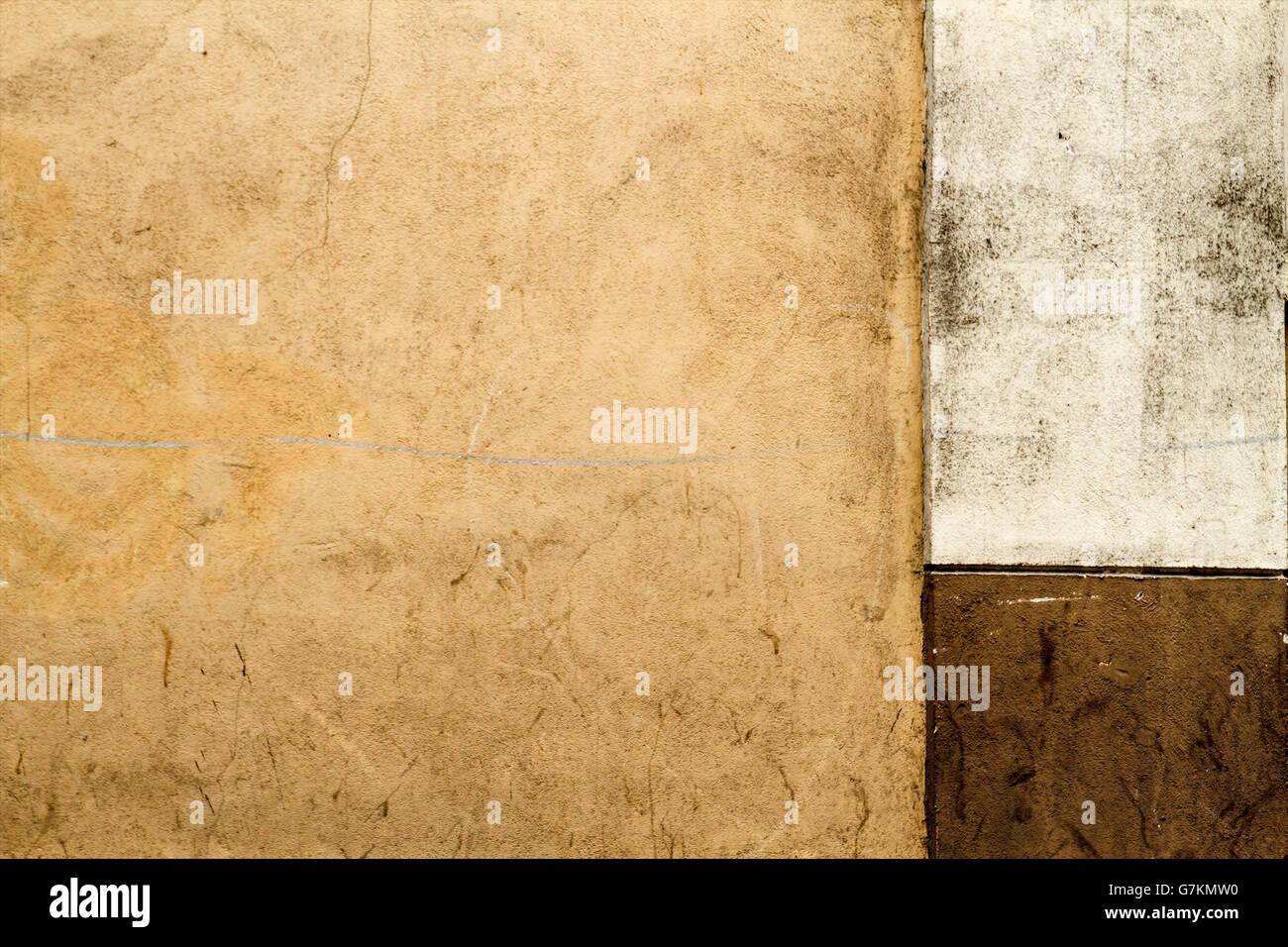 Old Concrete Wall Fragment Texture. Braun Colour. Horizontal Stock ...