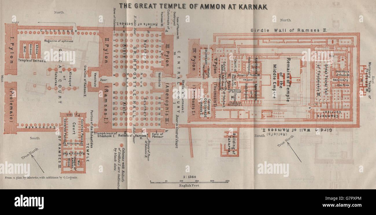 KARNAK Precinct Of AmunRe Temple Of Ammon Floor Plan Egypt - Map of egypt karnak