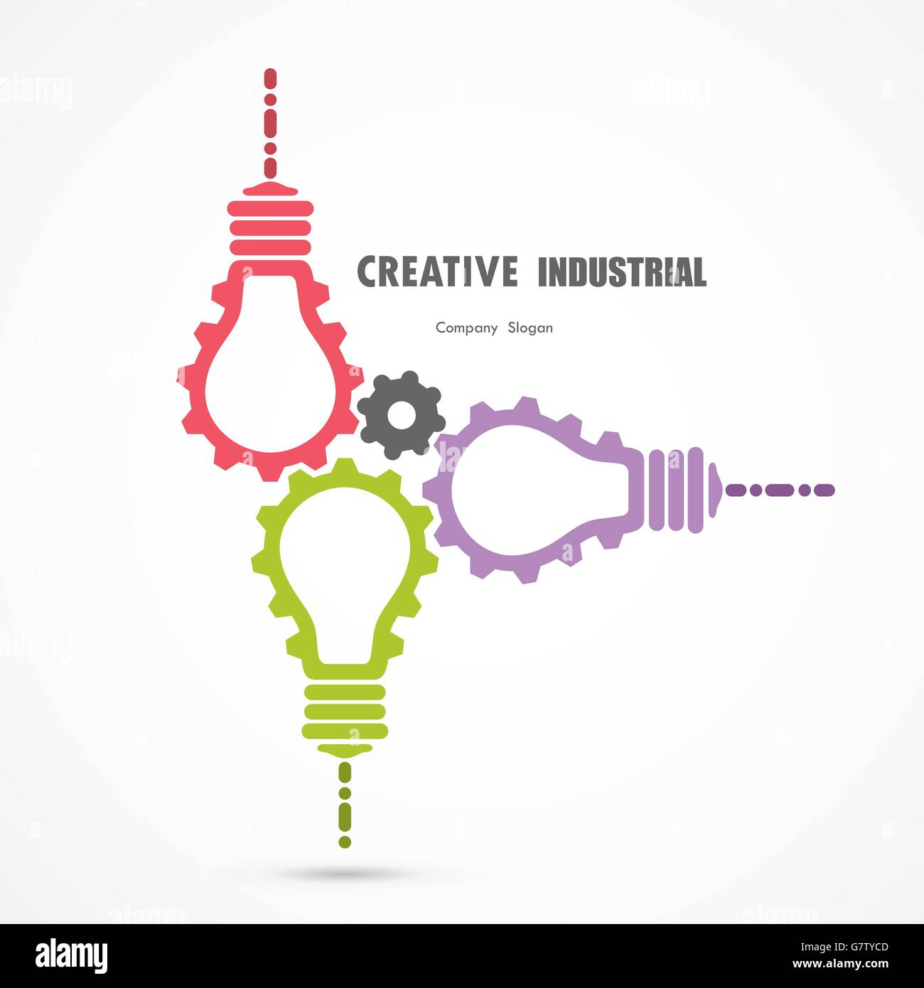Design banner template - Creative Light Bulb And Gear Abstract Vector Design Banner Template Corporate Business Industrial Creative Logotype