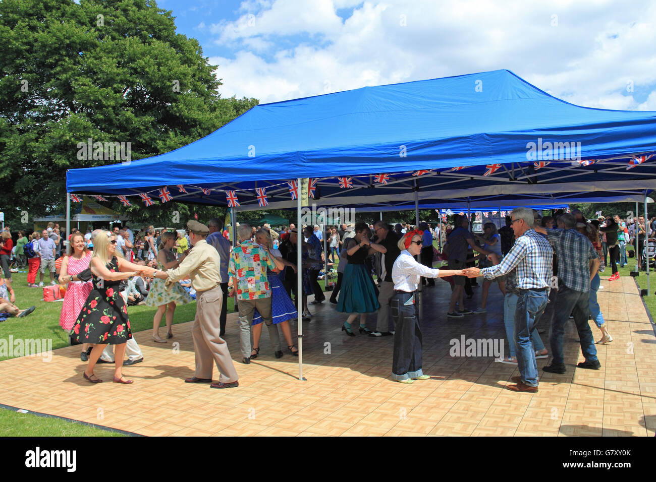 Jive and Swing dance tent Hanworth Classic Car Show 26th June 2016. Bushy Park H&ton Court London Borough of Richmond England Great Britain ... & Jive and Swing dance tent Hanworth Classic Car Show 26th June ...