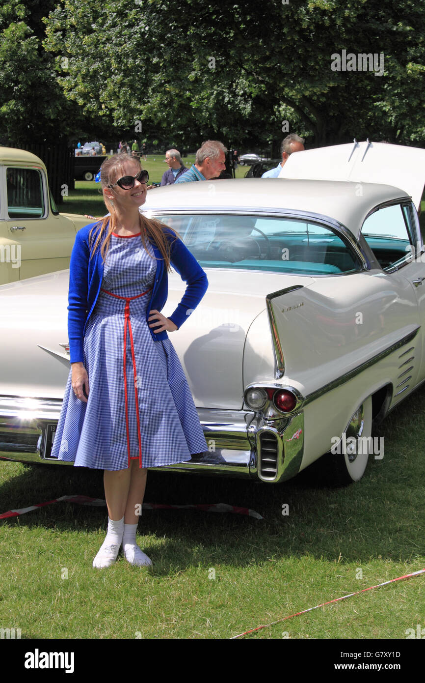1958 Cadillac Coupe de Ville, Hanworth Classic Car Show, 26th June ...