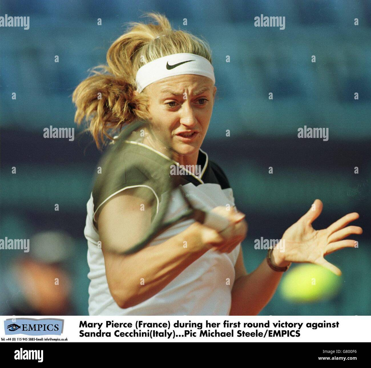 Italian Tennis Open Mary Pierce v Sandra Cecchini Stock