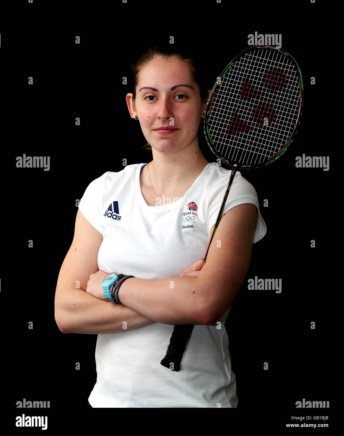 Team GB s Kirsty Gilmour poses for a photo after the Badminton
