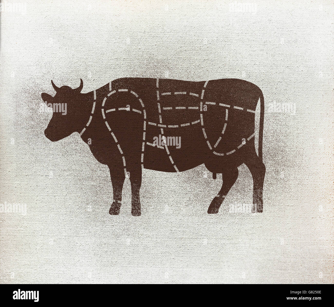 Butchers diagram of cow against white background stock photo butchers diagram of cow against white background pooptronica Gallery