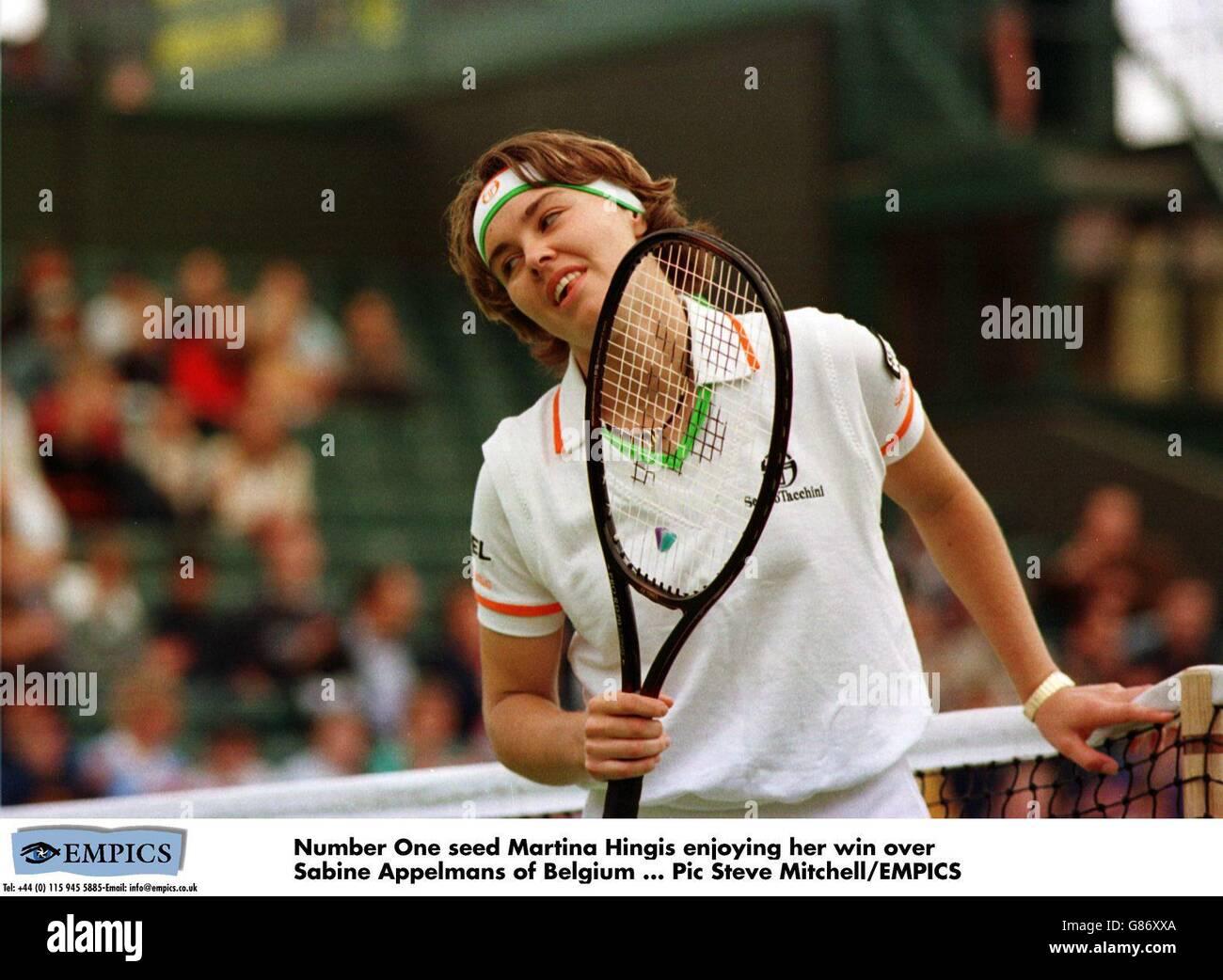 Tennis Wimbledon Championships Martina Hingis v Sabine