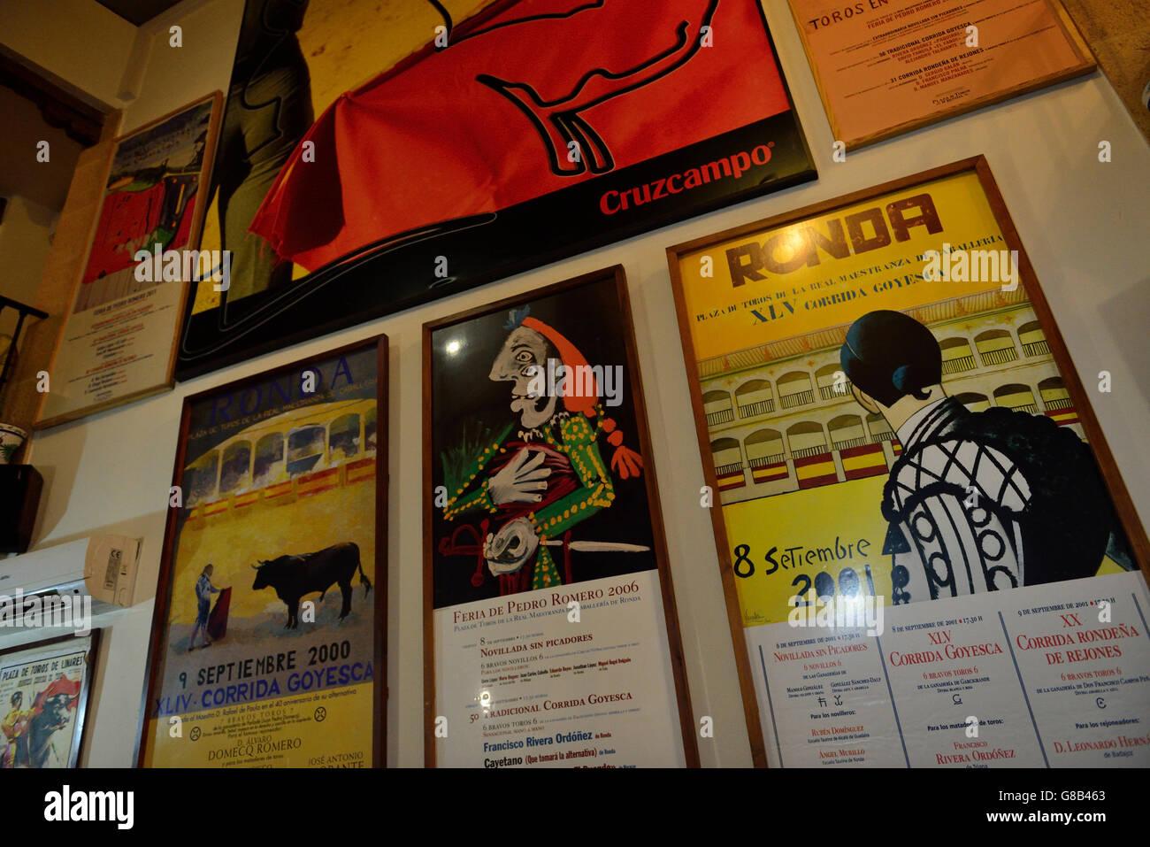 Bar Faustino Calle Santa Cecilia Ronda Andalusia Spain Stock  # Muebles Rondenos En Ronda