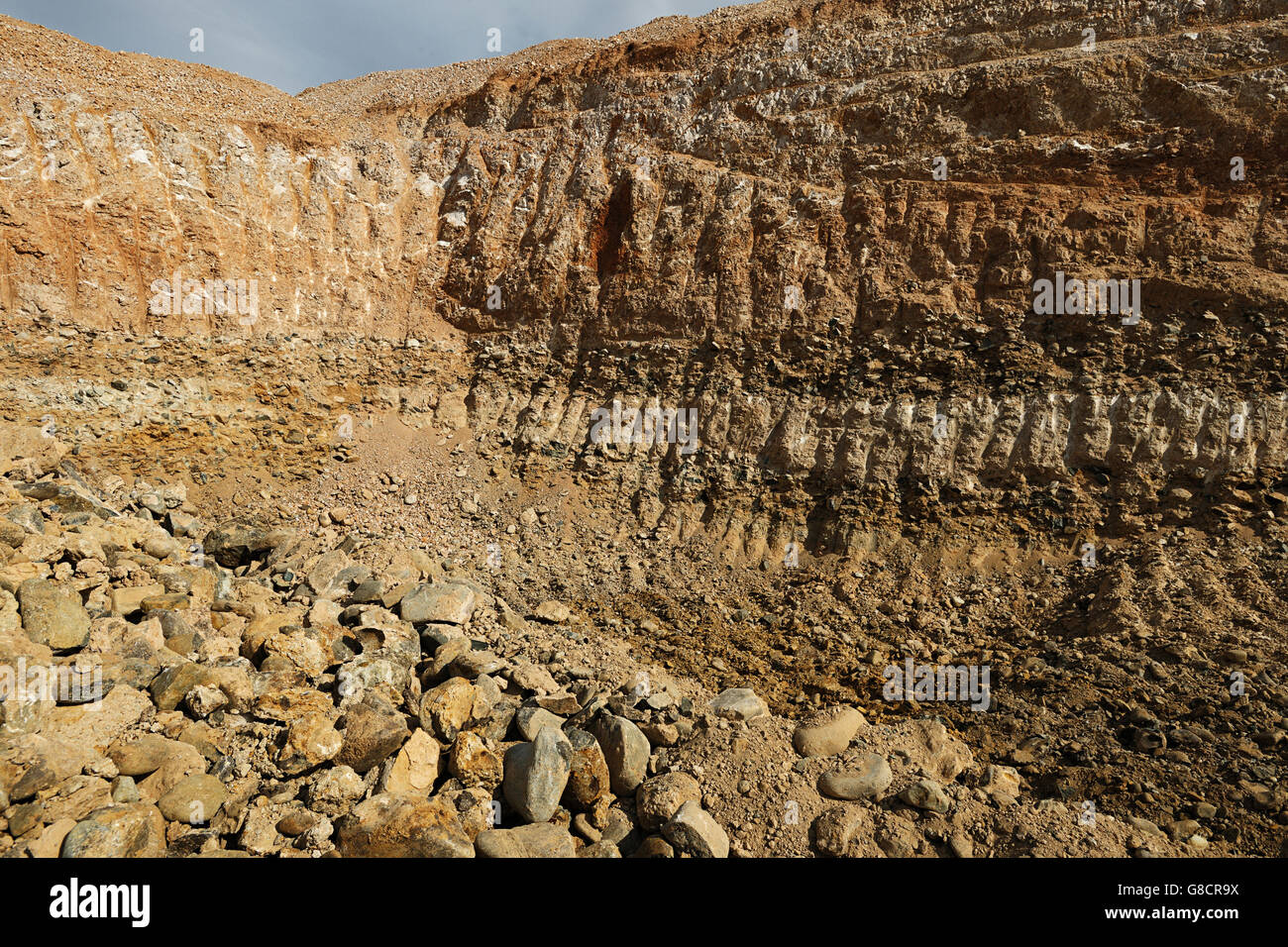 Alluvial Diamond Layers Mining Site Western Cape South